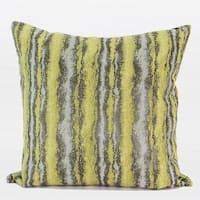 "G Home Collection Luxury Lemon Yellow Mix Color Stripe Pattern Metallic Chenille Pillow 20""X20"""