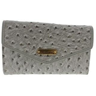 Buxton Womens Ostrich Brights Crossbody Handbag Faux Leather Flap - small