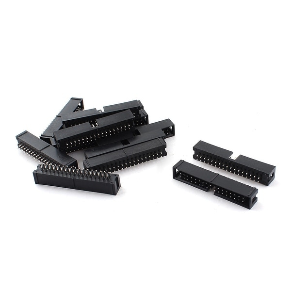 Unique Bargains 13 Pieces 2.54mm 34Pin Male Straight JTAG Header Connector for Flat Ribbon Cable