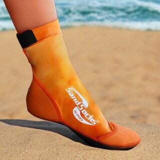 Sand Socks Classic High Top Neoprene Athletic Socks - Orange Sunset