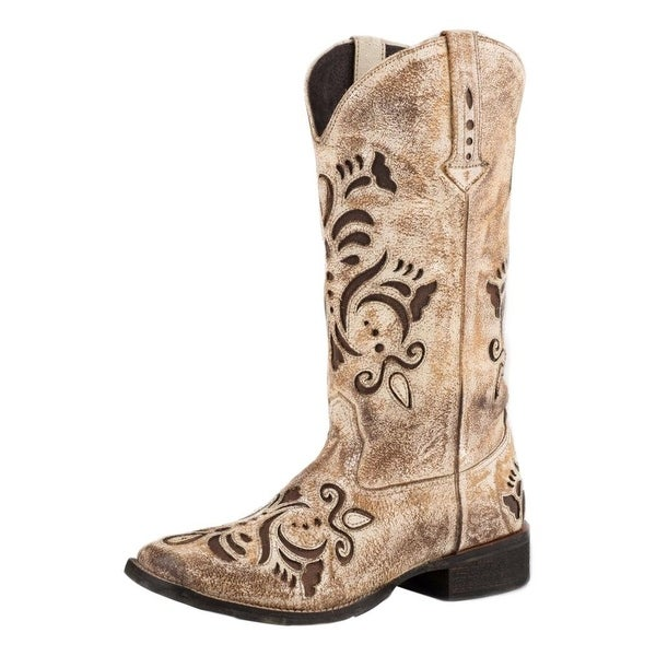 Roper Western Boots Womens Belle Leather Tan
