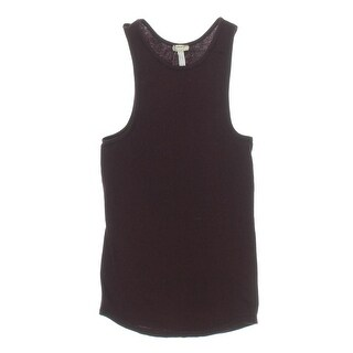 Free People Womens Ribbed Solid Muscle Tank - L