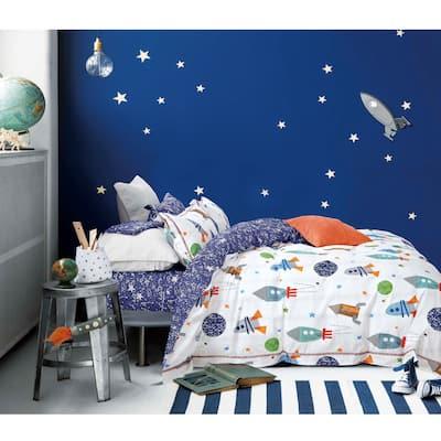 Johanas Kids Rocket Ship 100% Cotton Comforter Set