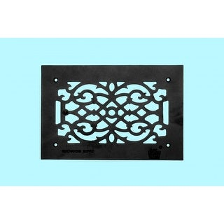 4 Heat Air Grille Cast Victorian Overall 8 x 12