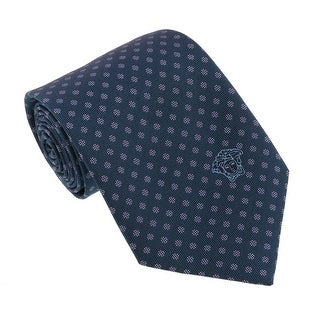 Versace Green/Silver Woven Dotted Polka Tie