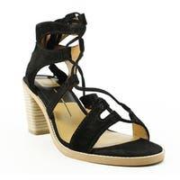 Dolce Vita Womens Misha Black Ankle Strap Heels Size 9