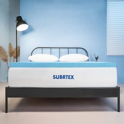 Subrtex Comfort 3 Inch Gel Memory Foam Topper