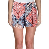 Jessica Simpson Womens Izzy Casual Shorts Printed Pleated - XS