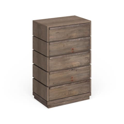 Furniture of America Emallson Rustic Natural Tone 5-drawer Chest