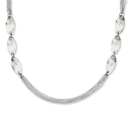 Chisel Stainless Steel Fancy 18in Necklace - 18 in