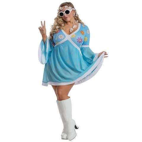 Plus Size Flower Power Costume - As Shown