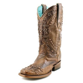 Corral C2918 Women W Square Toe Leather Brown Western Boot