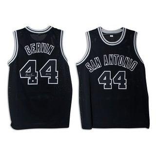 "George Gervin San Antonio Spurs Autographed Black Jersey Inscribed ""HOF 96"""