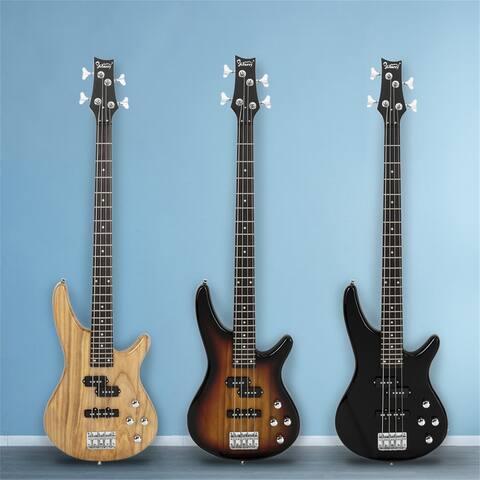 Glarry GIB Electric Bass Guitar Full Size 4 String Black