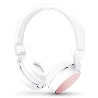HyperGear V60 Bluetooth Wireless Headphones White/Pink (14252)