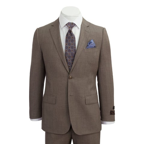 Novello Suit - Tan Birdseye, Modern Fit