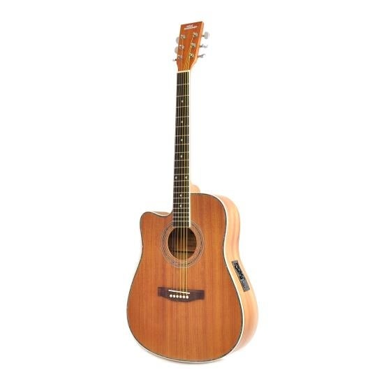 6-String Lefty Acoustic Guitar, Left-Handed Style, Full Scale, Accessory Kit Included