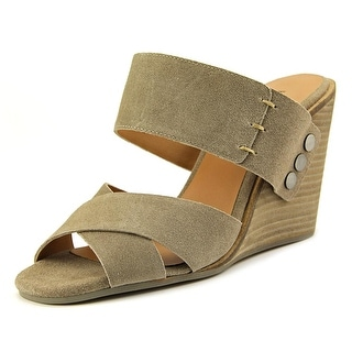 Kelsi Dagger Mortencs   Open Toe Suede  Wedge Sandal