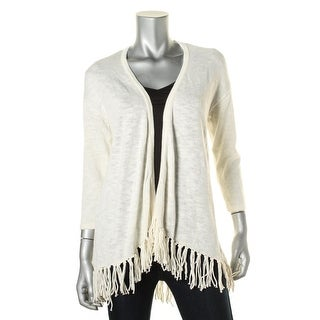 American Living Womens Open Front Fringe Cardigan Sweater