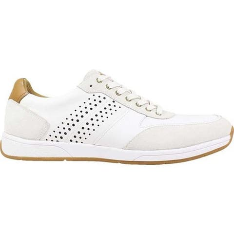 Florsheim Men's Fusion Sport Lace Up Sneaker White Smooth Leather/Suede