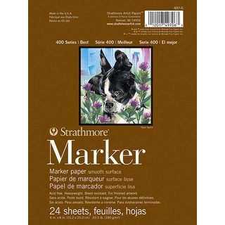 Strathmore 400 Series Marker Pad, 6 x 8 Inches, 24 Sheets
