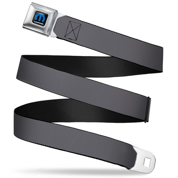 Mopar Logo Full Color Black Blue White Charcoal Webbing Seatbelt Belt Seatbelt Belt