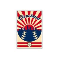 Cleveland - Vintage MLB - 16x24 Gallery Wrapped Canvas Wall Art