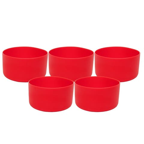 """Mind Reader 5 Pack Silicone Hydro Bottle Sleeve Cup Holder 32-40 oz. - 1.85"""" x 3.5"""" x 3.5"""""""