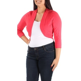 Womens Red Open Casual Top Size 12