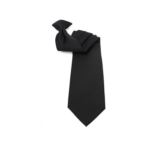 "Men's Solid Color 19"" Clip On Neck Tie - One Size"