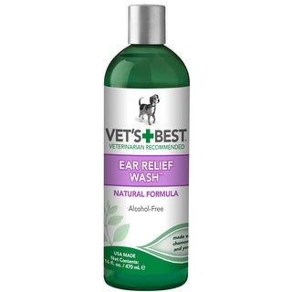 "Vet's Best Dog Ear Relief Wash 16oz Green 2.5"" x 2.5"" x 8.5"""