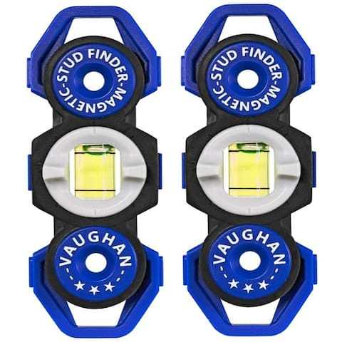 Vaughan 2 Pack Magnetic Stud Finders Pocket Sized No Batteries Needed - 240143