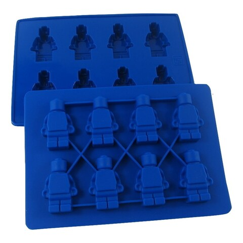 Lego Minifigure Silicone Mold for Ice, Chocolates, Jello, Crayons and More! (2-Pack)