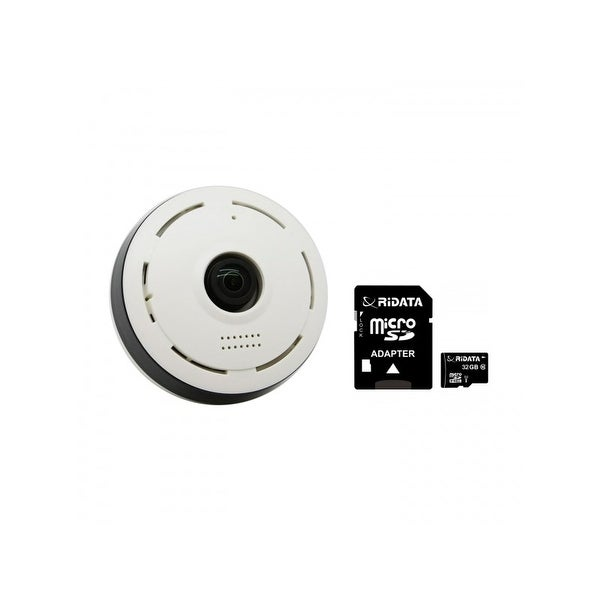 SpyTec Office Monitoring Standard Kit Includes WF1130 360-Degree Wi-Fi 1280p HD Camera