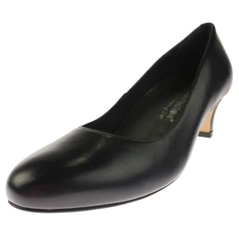 Walking Cradles Womens Joy Dress Heels Leather Round Toe