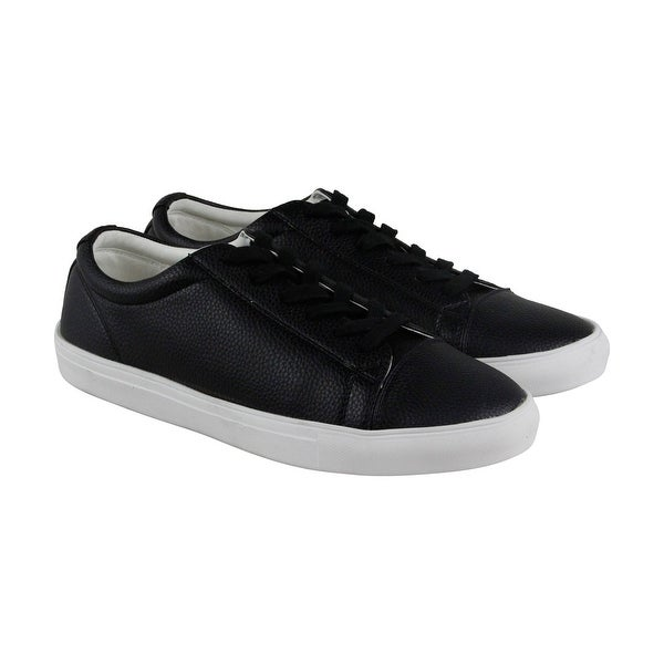 e481842fde0 Shop Steve Madden Bounded Mens Black Leather Lace Up Sneakers Shoes ...