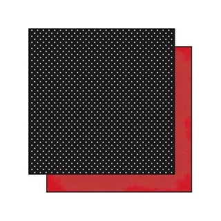 Simple Stories DIY Boutique Paper 12x12 Polka/Red