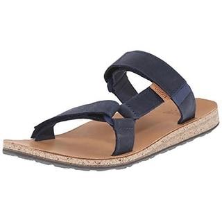 Teva Mens Universal Leather Adjustable Slide Sandals
