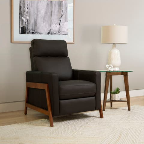 Abbyson Kyan Leather Pushback Recliner