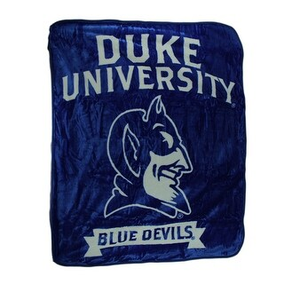 Duke University Blue Devils Super Plush Raschel Throw Blanket 60 X 50