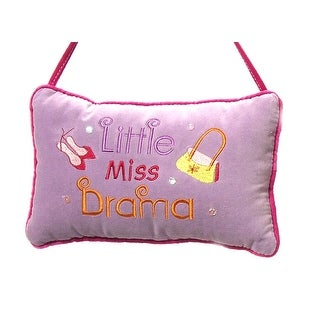"Little Miss Drama Velvet Pillow Christmas Ornament 10"" #C3193"