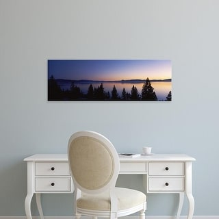 Easy Art Prints Panoramic Images's 'Lake at sunset, Lake Tahoe, California, USA' Premium Canvas Art