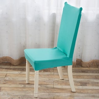 Stretch Washable Short Dining Room Chair Protector Cover Slipcovers Home Decor Sky Blue