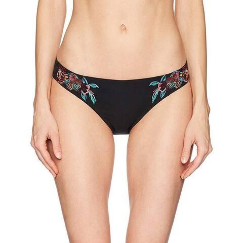 Laundry by Shelli Segal Women's Mesh Embroidery Bikini Bottom, Multi, SZ XL