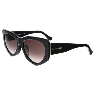 Balenciaga BA0018-F 01T Black Rectangular Sunglasses