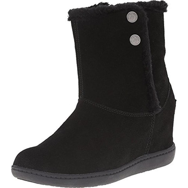 Skechers Womens Belay Wedge Boots Suede Ankle