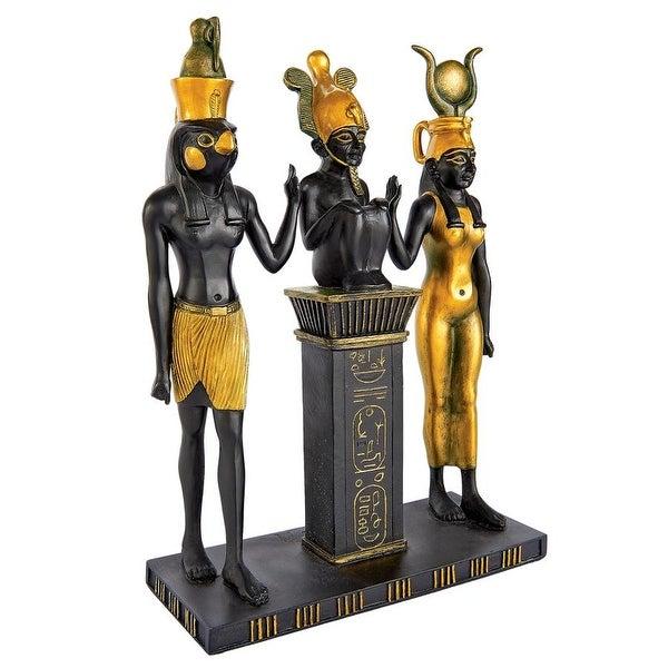 Design Toscano Osiris, Isis and Horus Egyptian Gods Statue