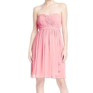 Donna Morgan NEW Pink Women Size 14 Strapless Empire Waist Dress