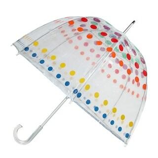 Totes Classic Clear Dome Polka Dot Bubble Umbrella
