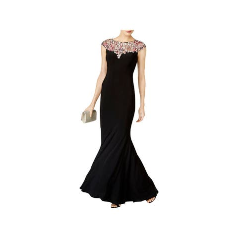 2e16f950f3f Xscape Womens Evening Dress Cap Sleeves Full-Length